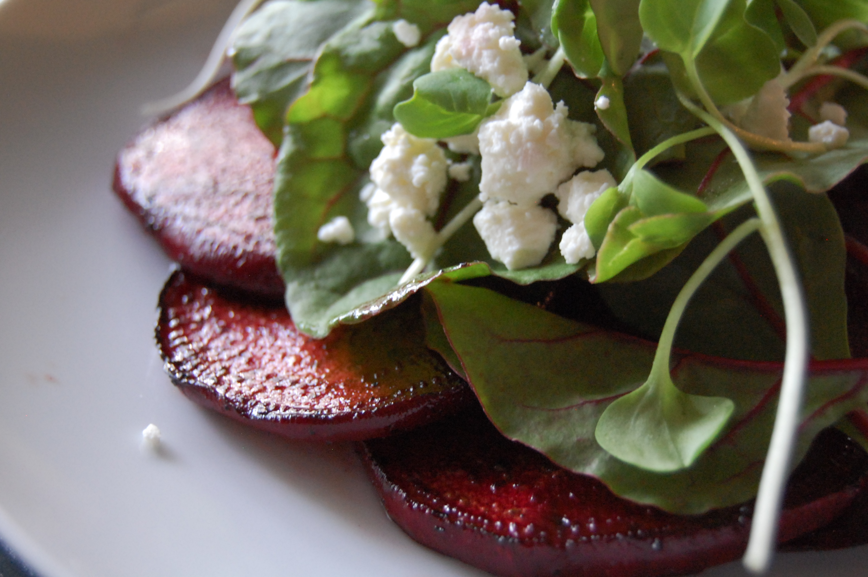 Grilled Beets with Micro Greens and Feta « Jereme's Kitchen