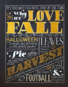 """this sums up Fall for me.  you do need to add """"volleyball"""" somewhere on here though.  in big gigantic letters.  like all over the place"""
