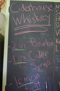 My handwriting is terrible.  But I do love my chalkboard pantry in the kitchen.